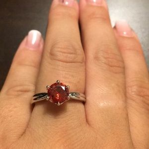 Ruby red beautiful ring